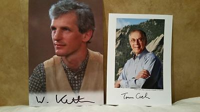 Thomas Cech & Wolfgang Ketterle Authentic Hand Signed Photo s , Nobel Prize