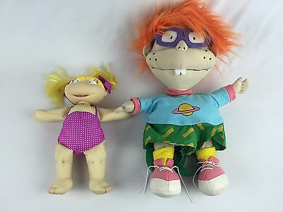 """Vintage Rugrats Chuckie Backpack 16"""" With Angelica Doll 90's Nickelodeon"""
