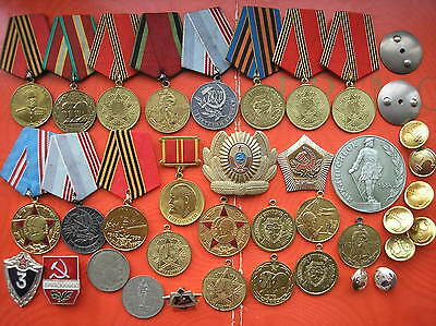 Military Badge Soviet Red Army USSR 38 Medal and 3 documents WAR II СССР