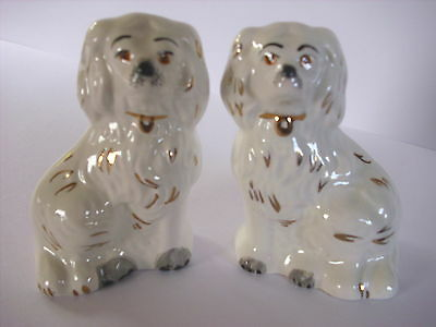 Pair  Beswick Staffordshire Spaniel Mantle Dogs 3.5 Inches Tall--Two