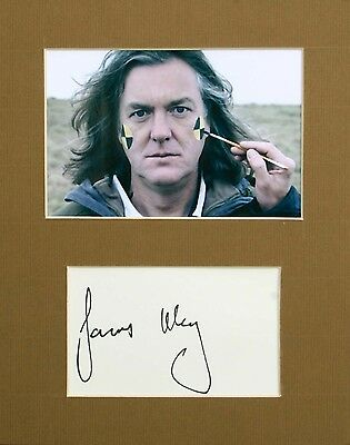 JAMES MAY - Signed mount display - Genuine Autograph