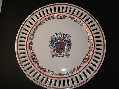 C19th - Antique Chinese Export Armorial Reticulated Plate / Charger Plate (1of3)