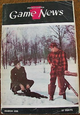 Pennsylvania Pa Game News Vintage Magazine March 1951 Game Warden-Trapper