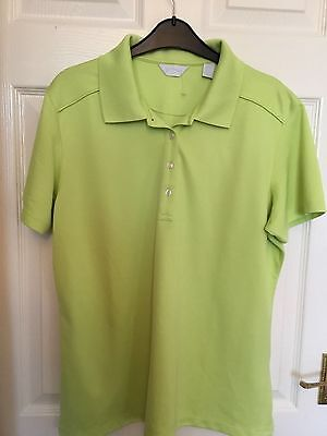 Ladies Calloway Golf Top Size Xl Lime Green Golf