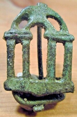 Ancient Roman Bronze Brooch, Roman Temple A Museum Quality Exact 'reproduction'