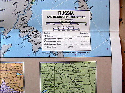 Russia & Neighbouring  Countries / Hammond  Map of World not dated