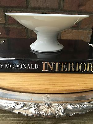 Antique White Ironstone French Porcelain Compote Bowl