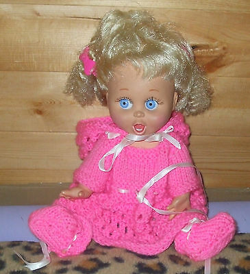 vintage  Galoob Baby face doll # 2  SO SURPRIZED SUZIE ,homemade outfit