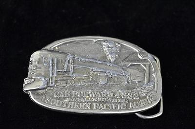 """American Buckle Co Railroad belt buckle """"Southern Pacific AC-12"""" made in USA-"""