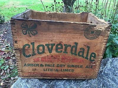 Cloverdale Springs Pale Amber Ginger Ale Soda Bottle Wood Box Crate Newville PA