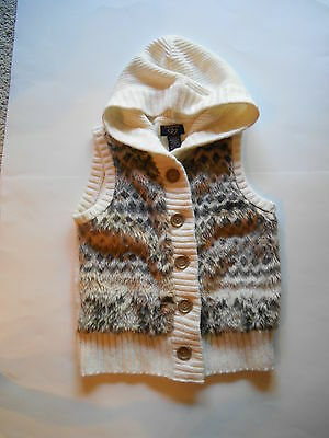 GIRLS SWEATER VEST HOODED SIZE LARGE by ITS OUR TIME