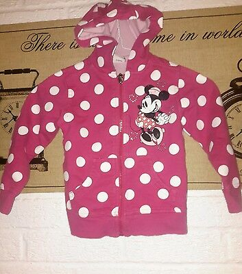 T u girls hooded top aged 4 years pink