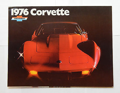 1976 Chevrolet Corvette Folding Dealership Brochure
