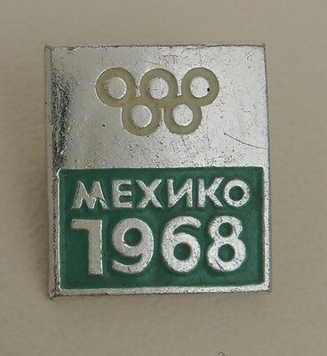 Mexico City 1968 Olympic Games, Pin Badge, Mexico, Russian version