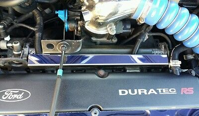 Ford Focus Mk1 RS polished stainless steel injector rail cover chrome