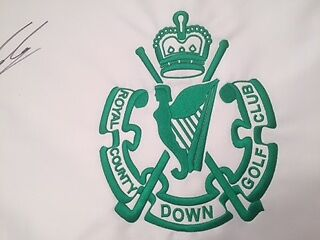 Golf Pin Flag  Royal County Down Signed  Embroidered , Rare Flag