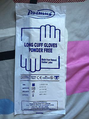 Elbow Length Latex Surgical Gloves Size Large 18 Inches Long