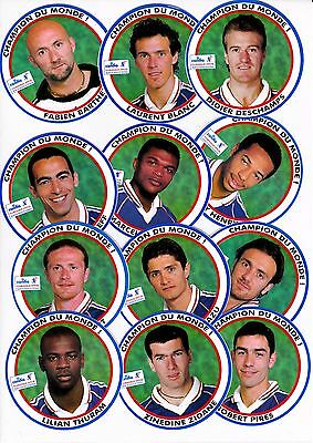 Stickers Candia Coupe Du Monde Football France 98