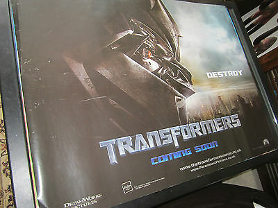 TRANSFORMERS Destroy  - 2007 -Original (Double Sided) UK Quad Poster