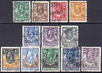 Northern Rhodesia, 1925 issue used part set, SG 1 - 14,  (no 8d & 10d) Cat £100