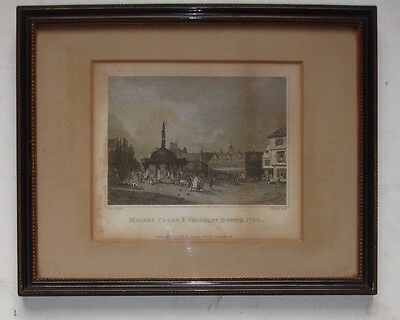 ANTIQUE ENGRAVING Market Cross & Shambles Ipswich 1814 H R COOK