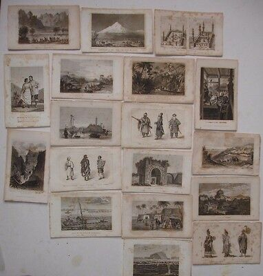 18 19th century engravings various subjects
