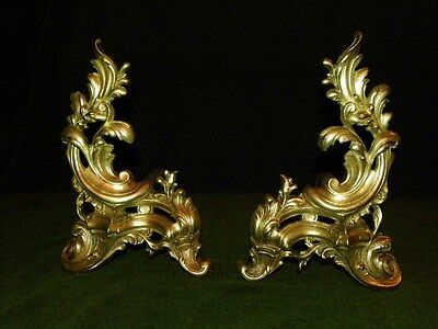 Elegant Pair of Antique French Bronze Andrions 19Th. C. Louis XV Style