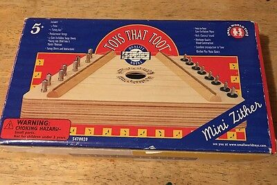 Toys That Toot Zither Musical Harp Instrument 1998 In Box w song sheets - age 5+