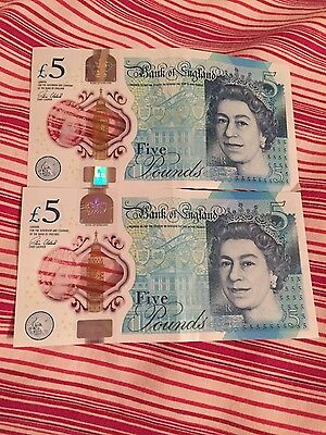 £5 Note Polymer ( AM58 and AK06 )