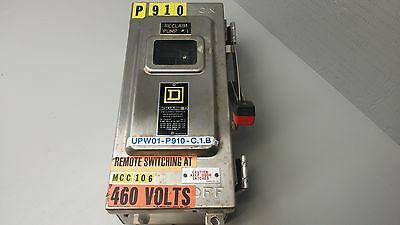 Square D Enclosed Switch W/Inspection Window cHU361ds Ser.E1 600VAC 30Amps USED