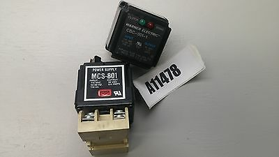 LOT of (2) Wagner Electric CBC-801-1 & MCS-801 Power supply 90VDC USED - NOT DOA