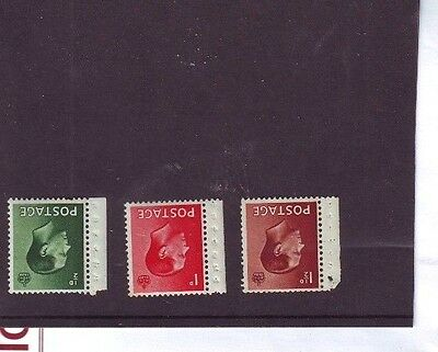 1936 KEVIII ½d-1d MNH 1½d MH Watermark Inverted SG 457Wi-9 Margins Dots ? Fine