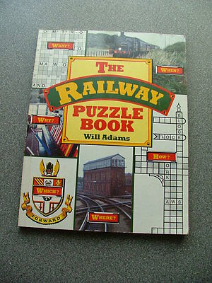 The Railway Puzzle Book by Will Adams published in 1989 - out of print