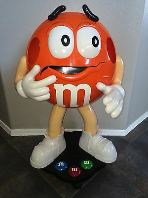 Orange M&M Candy Character Store Display- 3ft Tall - Excellent Condition