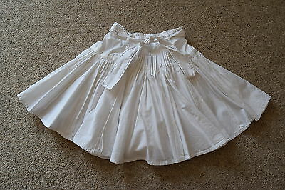AUTOGRAPH MARKS AND SPENCERS Girls White Skirt  Age 6 yrs Exc Cond