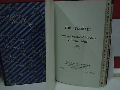 Shaw Blake  Tembar Combined Register Members Share Ledger C1 Old Legal Unused