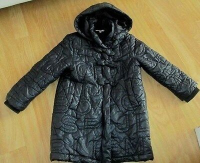 Little Marc Jacobs Black Hooded Quilted  Padded Coat Age 6 Years