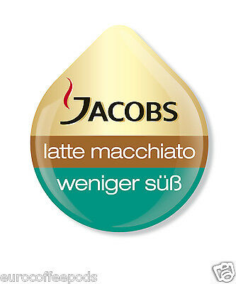 48 x Tassimo Jacobs Latte Macchiato Less Sweet Coffee 24 Servings Sold Loose