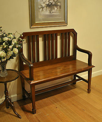 Antique Blackwood Settle / Hall / Window / Feature / Bench Seat ~ circa 1920s