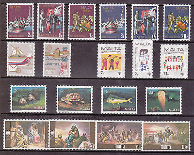 Malta - Sets of stamps from 1979 MNH