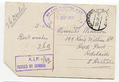 Australia WW1 postcard from Egypt, RARE 9th Light Horse cachet, fine