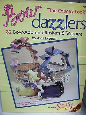 "Plaid Bow Dazzlers ""the Country Look"" Leaflet Bow-Adorned Baskets And Wreaths"