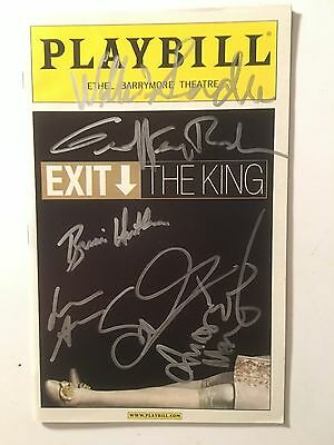 Exit The King Broadway Signed Playbill Geoffrey Rush Susan Surandon