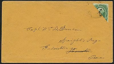 CSA #13d BISECT ON COVER LIBERTY, TX TO HOUSTON & GALVESTON W/ CSA CERT WLM2388