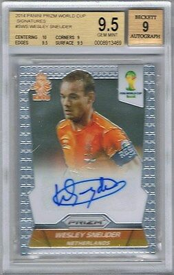 2014 Panini Prizm World Cup Signatures #S-WS Wesley Sneijder BGS 9.5 Gem Mint