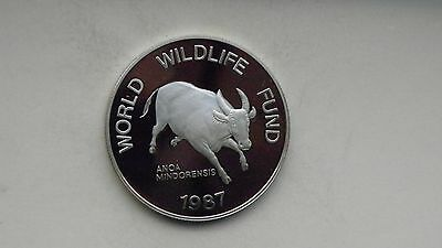 1987 Philippines 200 Piso Tamaraw Silver Proof coin