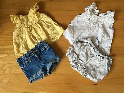 Lot Of 2 Old Navy Baby Boden Outfits Baby Girl Size 6-12 Months
