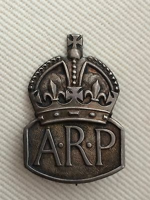 WWII Silver ARP Badge London 1938