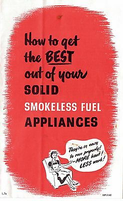 The Solid Smokeless Fuels Federation leaflet possibly 1950s