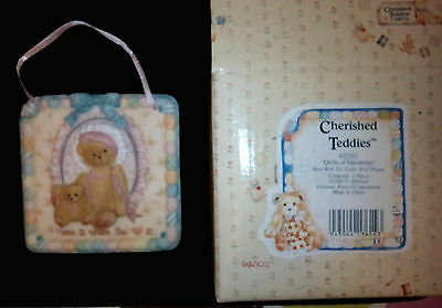 Enesco Corp. 1993 QUILTS OF FRIENDSHIP Cherished Teddies  HOME where the Love is